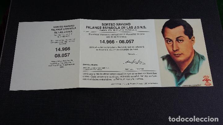 PARTICIPACIÓN SORTEO NAVIDAD 1999 - Nº 14966 / 08057 - FALANGE ESPAÑOLA DE LAS J.O.N.S. (Coleccionismo - Lotería Nacional)