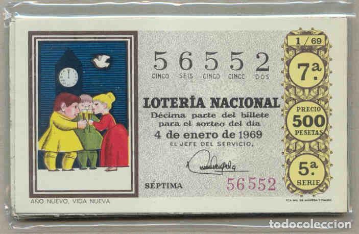 COLECCIÓN COMPLETA DE LOTERIA NACIONAL DE LOS SABADOS DEL AÑO 1969 (Coleccionismo - Lotería Nacional)