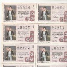 Lotería Nacional: BILLETES LOTERIA NACIONAL 1972 SORTEO Nº 33 NUMEROS BAJOS Y CORRELATIVOS 00872-00873. Lote 117565067