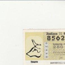 Lotería Nacional: LOTERIA NACIONAL JUEVES 1993. SORTEO DEL ZODIACO 30 DE ENERO. SORTEO 9/93 TAURO. Lote 117725163