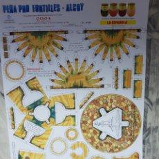 Lotería Nacional: .PEÑA PRO FONTILLES, ALCOY, LOTERIA NACIONAL, RECORTABLE, 1990 35X52CM. Lote 118206578