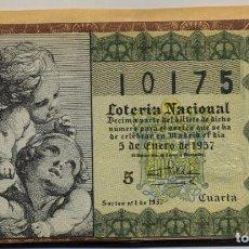 Lotería Nacional: LOTERIA NACIONAL 1957 COMPLETO. Lote 118490027