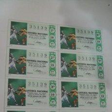 Lotería Nacional: BILLETE COMPLETO LOTERIA NACIONAL AÑO 1968 - SORTEO Nº 2 - 15 DE ENERO. Lote 118734855