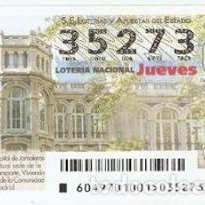 Lotería Nacional: LOTERÍA DEL JUEVES, SORTEO Nº 49 DE 2017. HOSPITAL DE JORNALEROS DE MAUDES. REF. 10-17-49. Lote 119218655