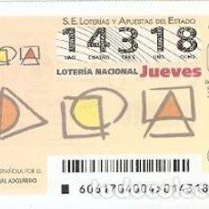 Lotería Nacional: LOTERÍA DEL JUEVES, SORTEO Nº 61 DE 2017. PLATAFORMA ESPAÑOLA DAÑO CEREBRAL ADQUIRIDO. REF. 10-17-61. Lote 119851151