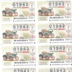 Lotería Nacional: 1 BILLETE LOTERIA NACIONAL JUEVES - 26 ABRIL 2018 - 33/18 COCHES VEHICULOS ANTIGUOS OPEL LUTZMANN. Lote 119887488