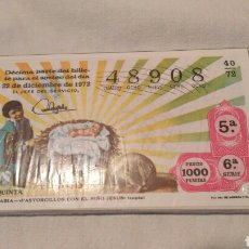 Lotería Nacional: LOTERÍA NACIONAL 1972, EL NIÑO EN EL ARTE ESPAÑOL, COMPLETA. Lote 120977112
