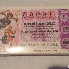 Lotería Nacional: LOTERÍA NACIONAL 1976, COMPLETA, LOS SISTEMAS DE COMUNICACIÓN. Lote 120978530