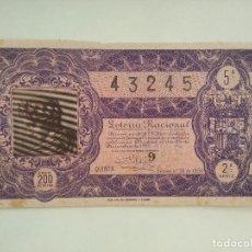 Lotería Nacional: LOTERIA 22 DICIEMBRE 1950 SORTEO 36. Lote 121422323