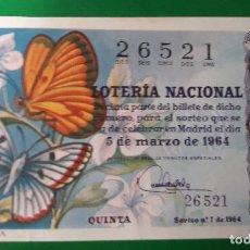 Lotería Nacional: LOTERIA NACIONAL, AÑO 1964 SORTEO 7. Lote 122239519