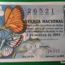 Lotería Nacional: LOTERIA NACIONAL, AÑO 1964 SORTEO 7. Lote 122239535