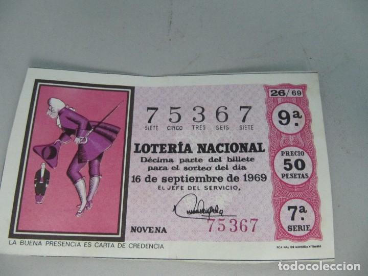 DÉCIMO DE LOTERÍA NACIONAL DE 16 DE SEPTIEMBRE DE 1969. ADMINISTRACIÓN DE SEVILLA (Coleccionismo - Lotería Nacional)