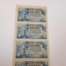 Lotería Nacional: LOTERÍA NACIONAL 5 ENERO 1949, CUATRO DÉCIMOS. Lote 123349263