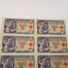 Lotería Nacional: LOTERÍA NACIONAL, 5 OCTUBRE 1957, SEIS DÉCIMOS.. Lote 123350135