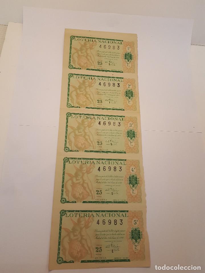 LOTERÍA NACIONAL, 5 ENERO 1950 (Coleccionismo - Lotería Nacional)