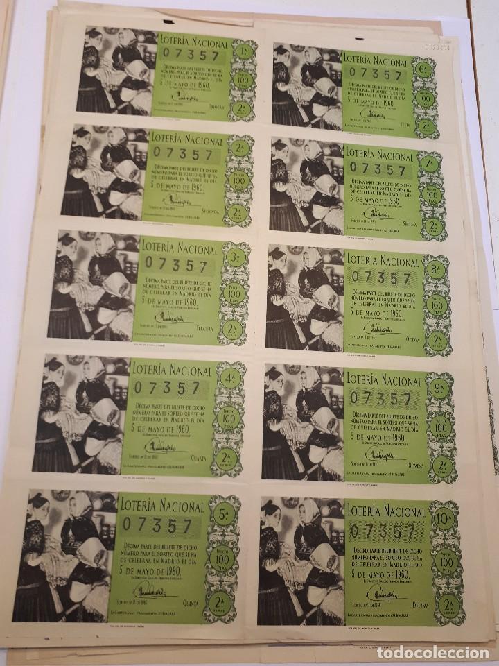 LOTERÍA NACIONAL 5 MAYO 1960, BILLETE COMPLETO (Coleccionismo - Lotería Nacional)