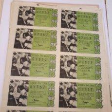 Lotería Nacional: LOTERÍA NACIONAL 5 MAYO 1960, BILLETE COMPLETO. Lote 123373263