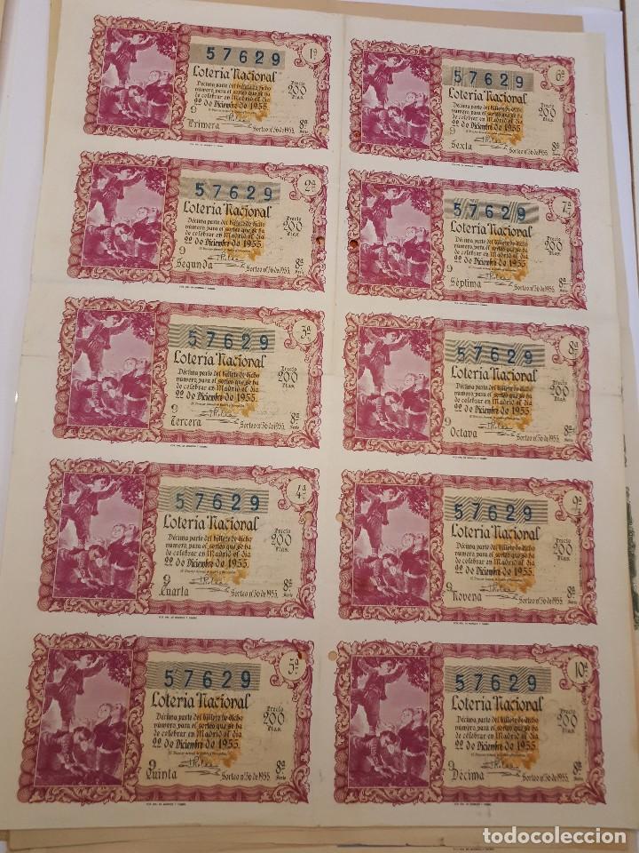 LOTERÍA NACIONAL 22 DICIEMBRE 1955. BILLETE COMPLETO (Coleccionismo - Lotería Nacional)