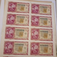 Lotería Nacional: LOTERÍA NACIONAL 22 DICIEMBRE 1955. BILLETE COMPLETO. Lote 123373767