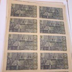 Lotería Nacional: LOTERÍA NACIONAL, 21 DICIEMBRE 1963, BILLETE COMPLETO. Lote 123374519