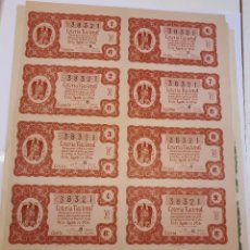 Lotería Nacional: LOTERÍA NACIONAL 25 AGOSTO 1956, BILLETE COMPLETO.. Lote 123376579