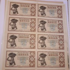 Lotería Nacional: LOTERÍA NACIONAL, 22 DICIEMBRE 1954, BILLETE COMPLETO. Lote 123378059
