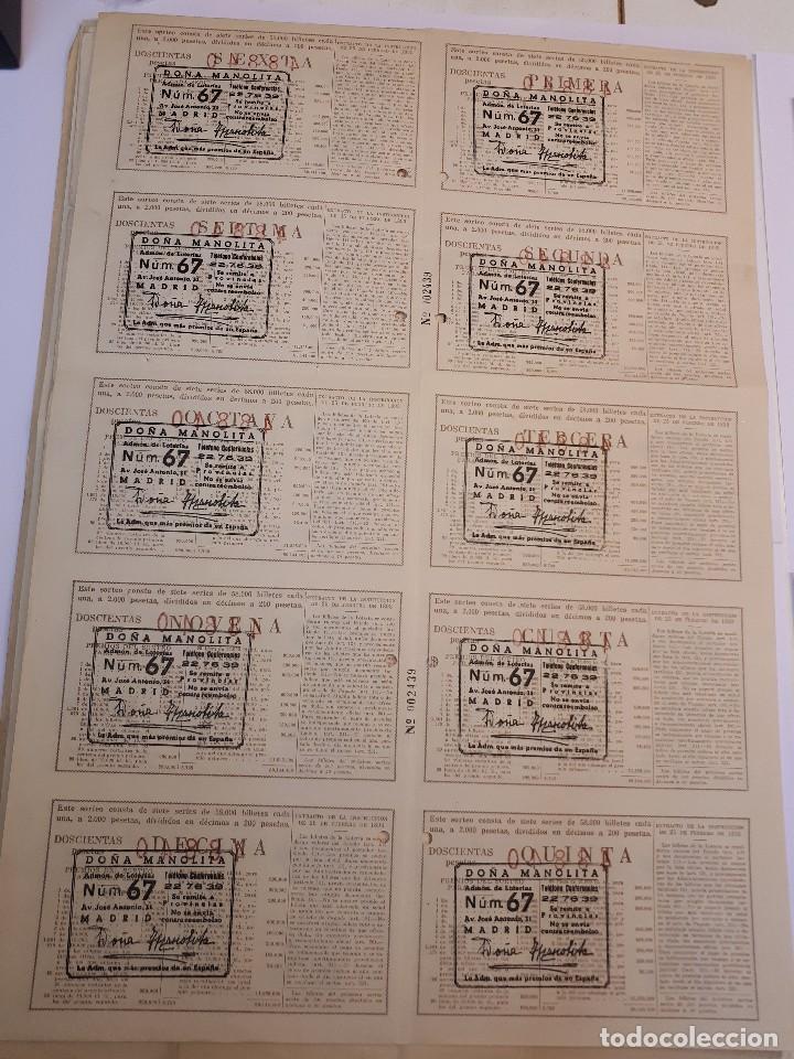 Lotería Nacional: lotería nacional, 22 diciembre 1954, billete completo - Foto 2 - 123378059