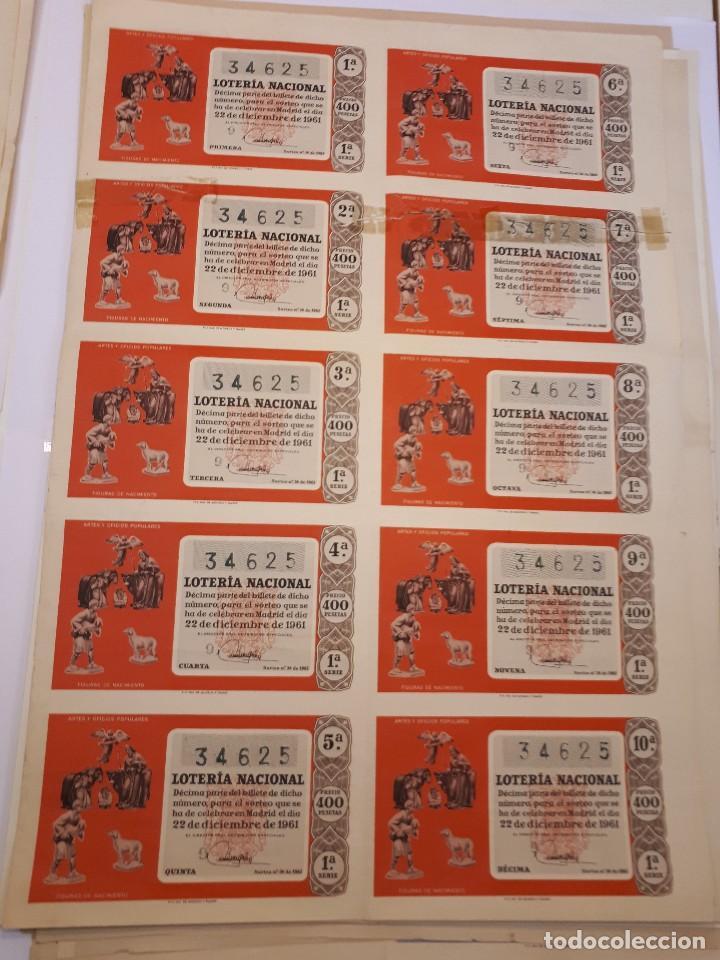LOTERÍA NACIONAL 22 DICIEMBRE 1961. BILLETE COMPLETO (Coleccionismo - Lotería Nacional)
