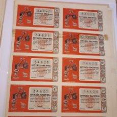 Lotería Nacional: LOTERÍA NACIONAL 22 DICIEMBRE 1961. BILLETE COMPLETO. Lote 123378675