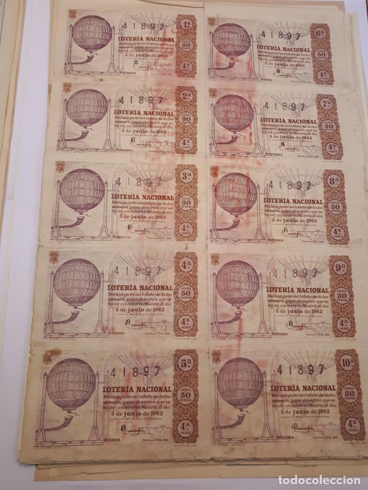 LOTERÍA NACIONAL 5 JUNIO 1963, BILLETE COMPLETO. (Coleccionismo - Lotería Nacional)