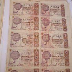 Lotería Nacional: LOTERÍA NACIONAL 5 JUNIO 1963, BILLETE COMPLETO.. Lote 123380155