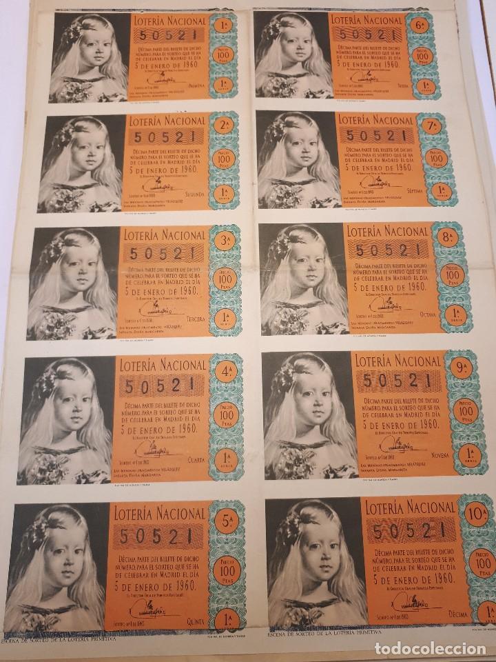 LOTERÍA NACIONAL 5 ENERO 1960 (Coleccionismo - Lotería Nacional)