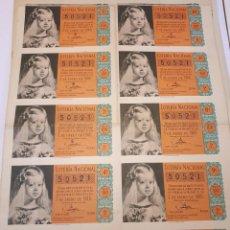 Lotería Nacional: LOTERÍA NACIONAL 5 ENERO 1960. Lote 123380379
