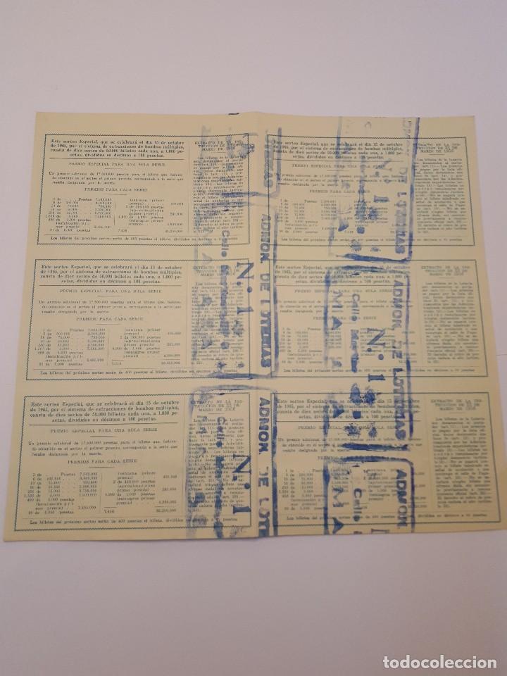 Lotería Nacional: lotería nacional, 15 octubre 1965, 6 décimos - Foto 2 - 123380967