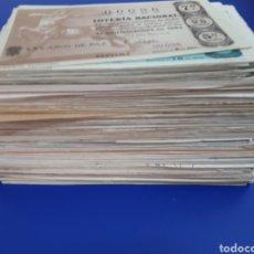 Lotería Nacional: LOTERÍA NACIONAL LOTE DE CIENTOS DE DECIMOS DESDE 1956 HASTA 1966 CALIDAD DE 2°. Lote 124436712