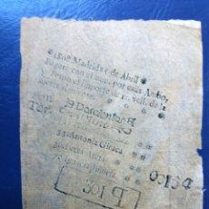 Lotería Nacional: ANTIGUA LOTERÍA PRIMITIVA. AÑO 1808. Lote 124586303