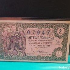 Lotería Nacional: LOTERÍA NACIONAL 1958 SORTEO 16. Lote 125088647