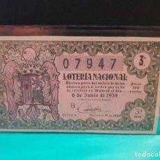Lotería Nacional: LOTERÍA NACIONAL 1958 SORTEO 16. Lote 125089199
