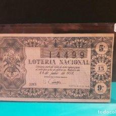 Lotería Nacional - Lotería nacional 1958 sorteo 21 - 125092071