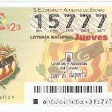 Lotería Nacional: LOTERÍA DEL JUEVES, SORTEO Nº 103 DE 2016. FÚTBOL. ESCUDO NASTIC. REF. 10-16-103. Lote 125663427
