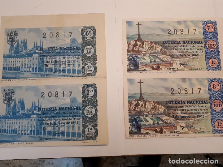 CUATRO DÉCIMOS LOTERÍA NACIONAL 1962 (Coleccionismo - Lotería Nacional)