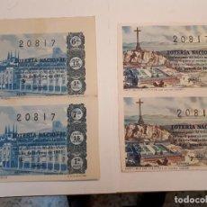 Lotería Nacional: CUATRO DÉCIMOS LOTERÍA NACIONAL 1962. Lote 125999859