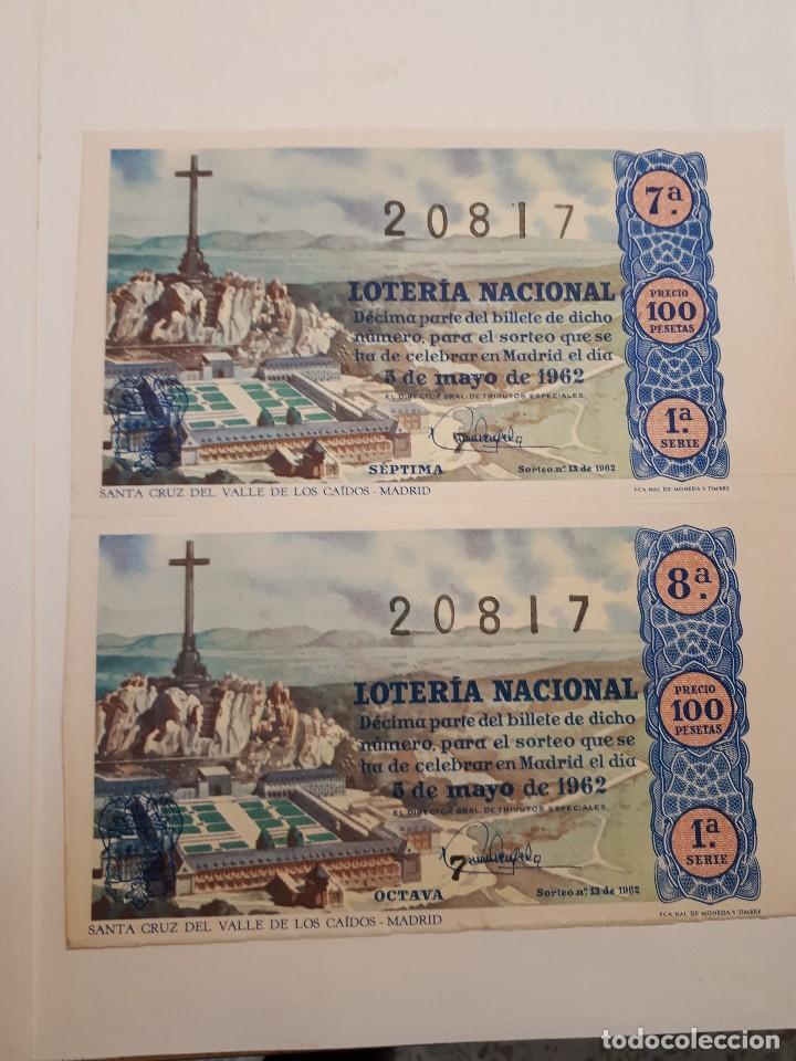 Lotería Nacional: cuatro décimos lotería nacional 1962 - Foto 2 - 125999859