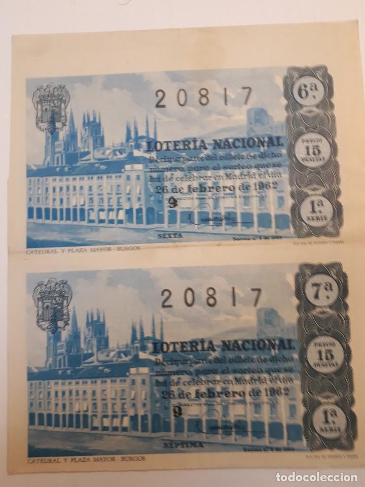Lotería Nacional: cuatro décimos lotería nacional 1962 - Foto 3 - 125999859