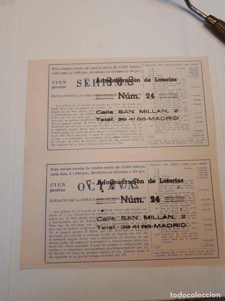 Lotería Nacional: cuatro décimos lotería nacional 1962 - Foto 4 - 125999859
