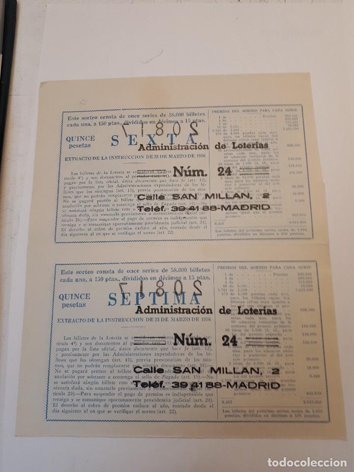 Lotería Nacional: cuatro décimos lotería nacional 1962 - Foto 5 - 125999859