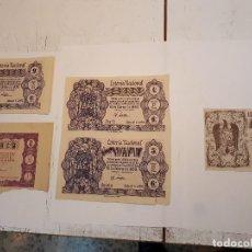 Lotería Nacional: CINCO DÉCIMOS LOTERÍA NACIONAL 1958 Y 1959. Lote 126011871