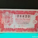 Lotería Nacional: LOTERÍA NACIONAL DEL AÑO 1954 SORTEO 4. Lote 126601907