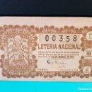 Lotería Nacional: LOTERÍA NACIONAL DEL AÑO 1954 SORTEO 9. Lote 126605783