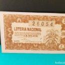 Lotería Nacional: LOTERÍA NACIONAL DEL AÑO 1954 SORTEO 14. Lote 126615479